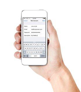 iPhone mail setup