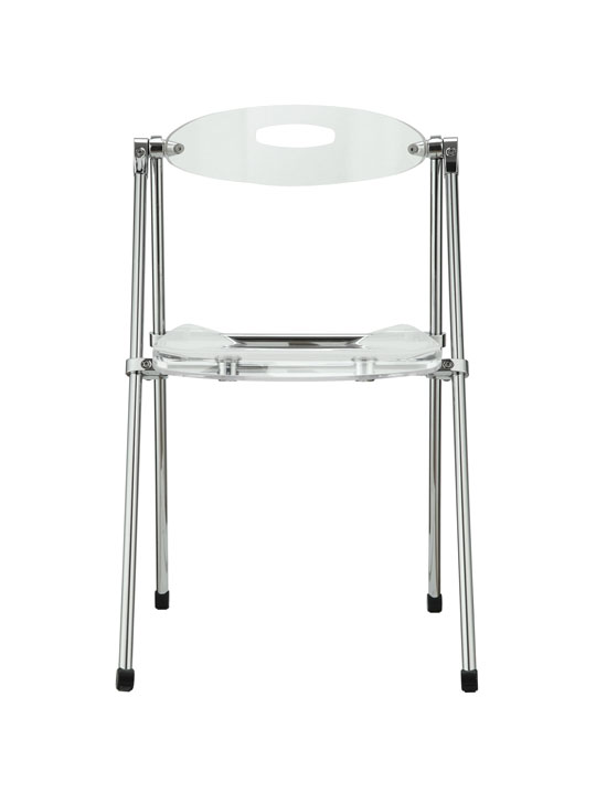 Acrylic Folding Chair  Brickell Collection Modern Furniture