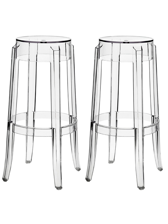 ghost chair bar stool sciatic nerve pillow clear acrylic barstool brickell collection modern furniture 3