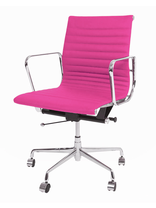 hot pink office chair shower on wheels instant publicist brickell collection modern furniture store