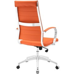 Office Chair Orange Spandex Covers For Metal Folding Chairs Instant Operator High Back Brickell Collection
