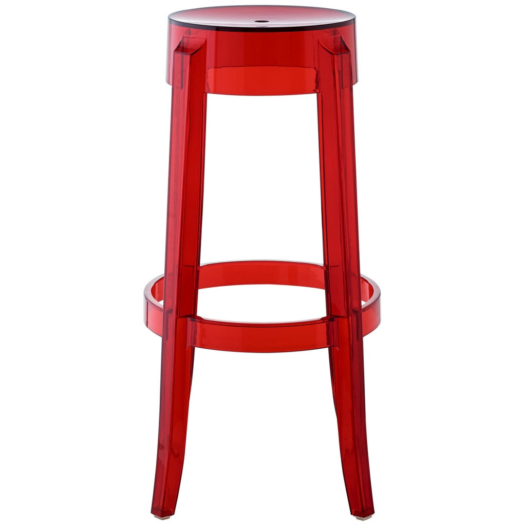 red metal chairs target cafe for sale clear acrylic barstool brickell collection  modern