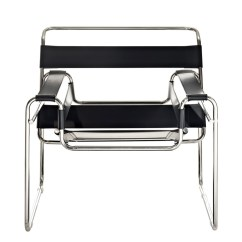 Leather Chrome Chair Antique Desk Chairs Uk Strap Brickell Collection Modern Furniture Black 3