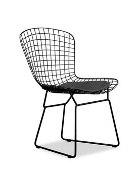 black wire chair pottery barn chairs living room dyson brickell collection modern furniture home