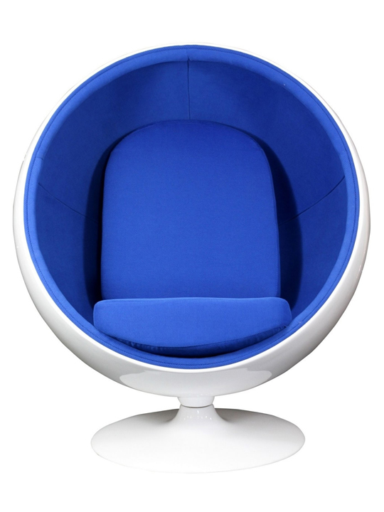 modern ball lounge chair la z boy covers private space furniture brickell collection blue