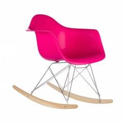 Neon Pink Chair Folding Leg Floor Protectors Dock Rocker Modern Furniture Brickell Collection 1
