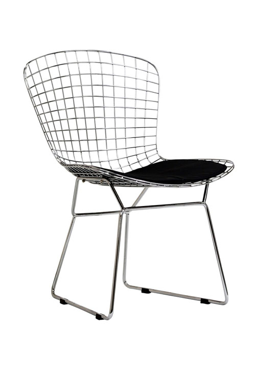 black wire chair vintage aluminum lawn chairs dyson brickell collection modern furniture store cushion