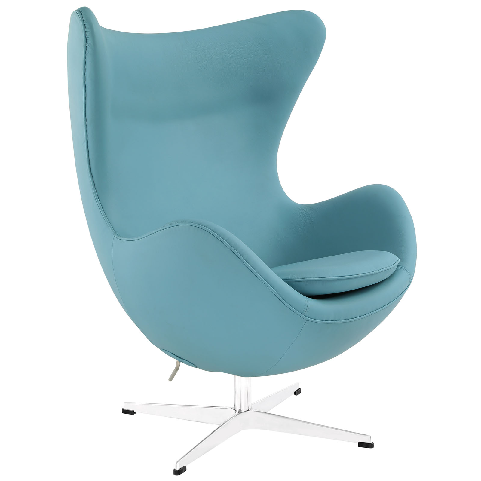 Blue Leather Club Chair Magnum Leather Chair Modern Furniture Brickell Collection