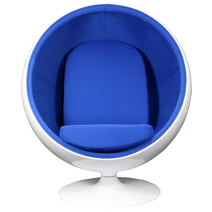 ball chairs proper chair posture at computer private space modern furniture brickell collection blue 2