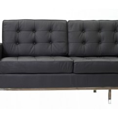 Black Leather Sofa Quick Delivery Deep Cleaning London Bateman Modern Furniture  Brickell Collection