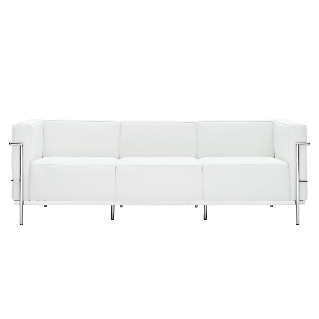 oversized white leather sofa tidafors reviews simple large modern furniture  brickell