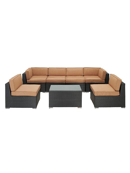 Jamaica 7 Piece Outdoor Set  Modern Furniture  Brickell