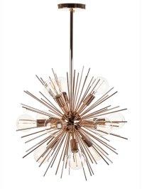 Spine Rose Gold Pendant Light   Modern Furniture ...