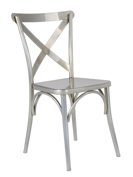 X Metal Chair  Modern Furniture  Brickell Collection