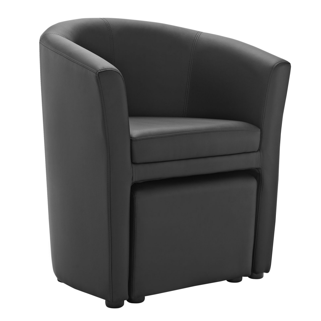 black chair and ottoman outdoor cushions on sale sequence set modern furniture