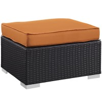 Moda Outdoor Ottoman | Modern Furniture  Brickell Collection