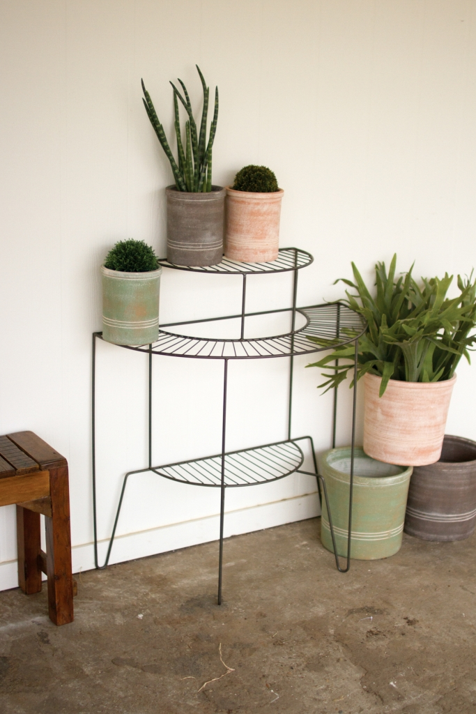 Wire 3 Tier Plant Stand | Modern Furniture • Brickell Collection