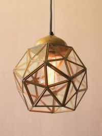 Gold Glass Geometric Medium Pendant Light | Modern ...