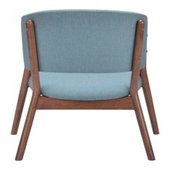 Accent Chair Blue Posture Corrector Mariner Wood Modern Furniture Brickell Collection 3