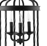 Black Caged Pendant Light   Modern Furniture  Brickell ...