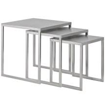 stainless steel nesting table set