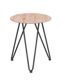 Mid Century Natural Wood Side Table | Modern Furniture ...