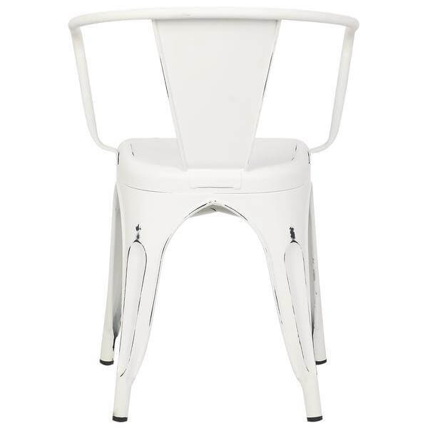cafe chairs metal teak shower with arms chair modern furniture brickell collection distressed white 4