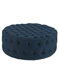 Round Tufted Fabric Ottoman | Modern Furniture  Brickell ...
