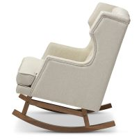 Tufted Wingback Rocking Chair | Modern Furniture ...