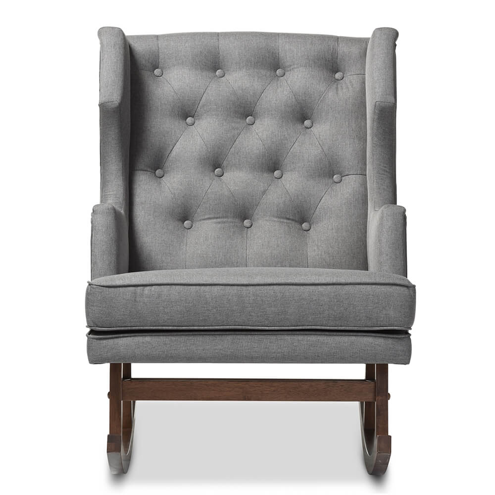 Wingback Tufted Chair Tufted Wingback Rocking Chair