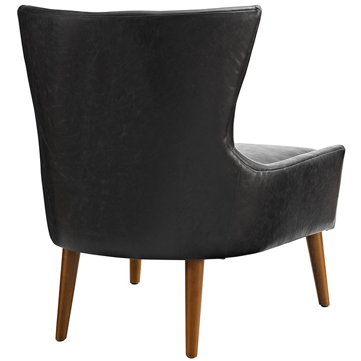 mid century modern leather accent chair wedding covers inverness journal furniture black 3