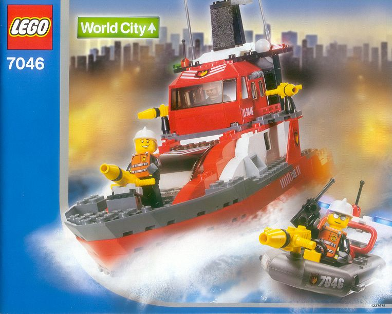 Bricker Construction Toy By LEGO 7046 Fire Command Craft