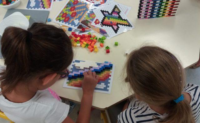 pixel art en briques Lego