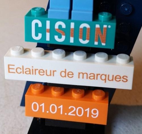 logo CISION en briques Lego