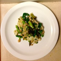 Cauliflower, Kale, Asparagus and Cannellini Bean Mess.