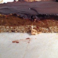 Raw Vegan Caramel Slice.