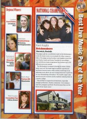 THE AWARDS BROCHURE - LIVE MUSIC PUB OF THE YEAR 2011!