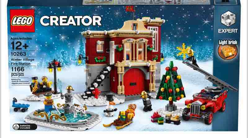 Jump aboard the sleigh and head down to the snowy LEGO® Creator Expert 10263 Winter Village Fire Station!
