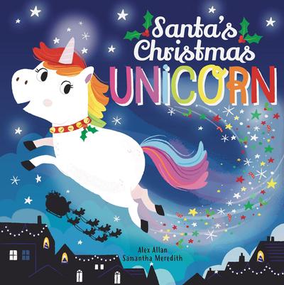 Santa's Christmas unicorn by Alex Allan