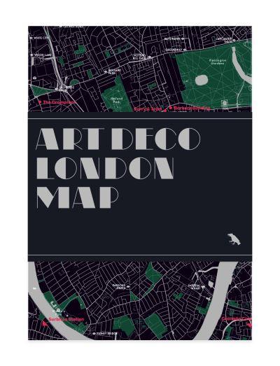 Art Deco London Map -