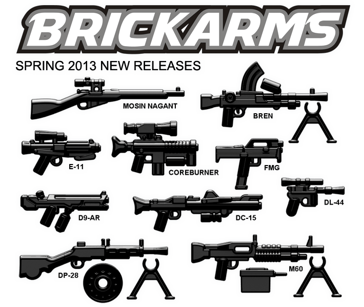 BrickArms Spring 2013 New Releases