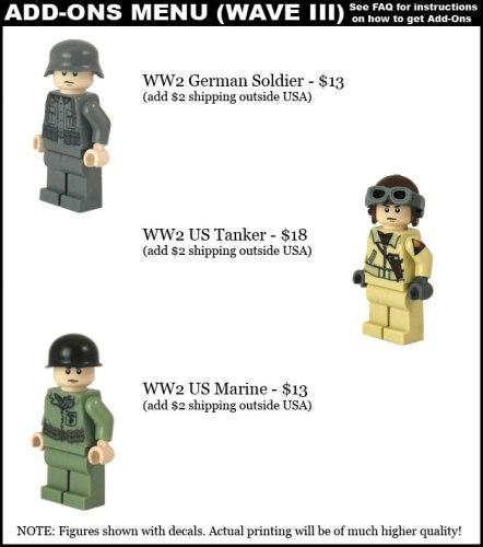 Brickmania custom minifigs