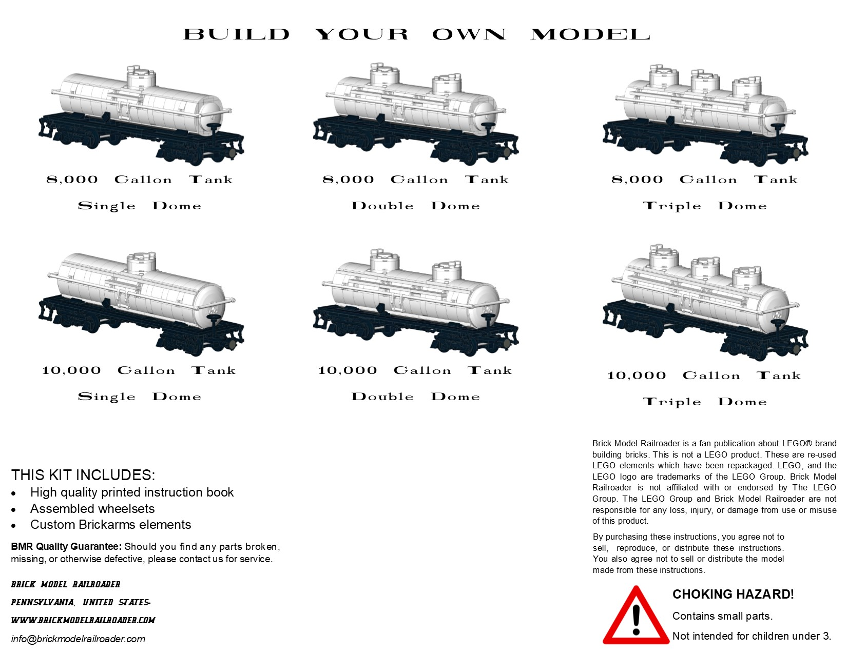 American Car & Foundry Type 27 Tank Car Premium Instructions | Brick ...