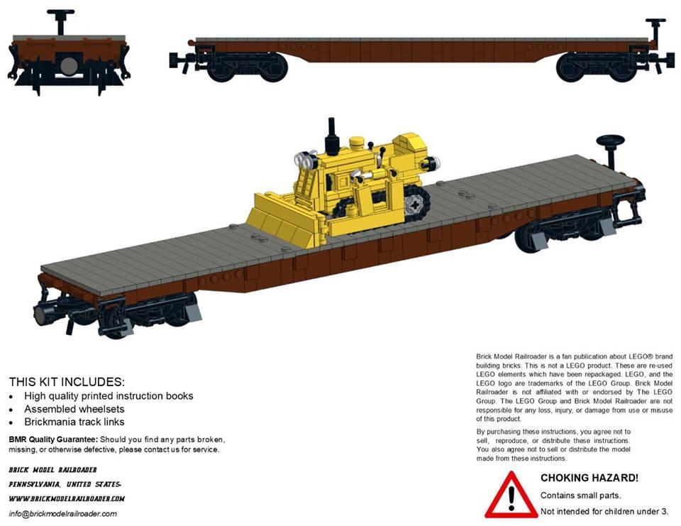 Aar 53 70ton Flat Car Premium Instructions Brick Model Railroader