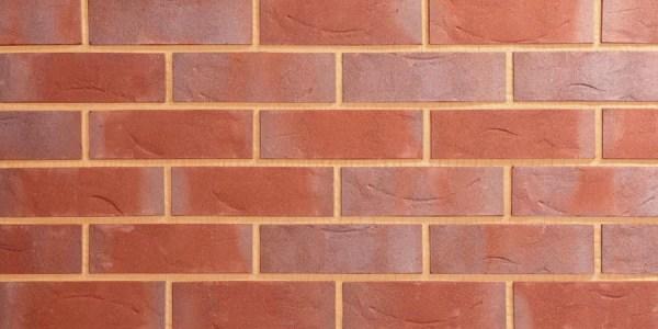 Red Blue Textured Brick Slip
