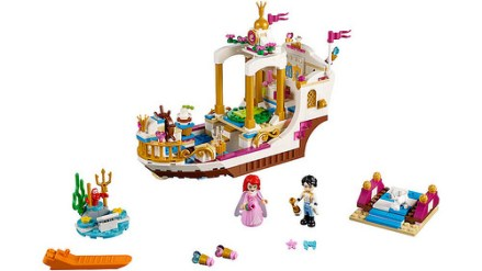 41153 lego disney ariel's royal celebration boat 2