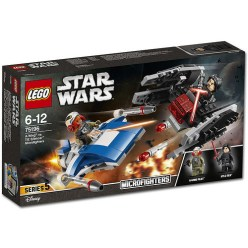 LEGO Star Wars A-Wing vs. TIE Silencer Microfighters (75196)