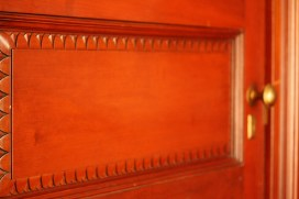 Decorative element on interiror door