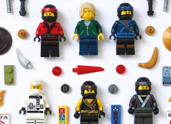 The LEGO NINJAGO Movie Pieces Poster