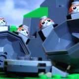 Flock Of LEGO Porgs Cause Mischief On Ahch-To